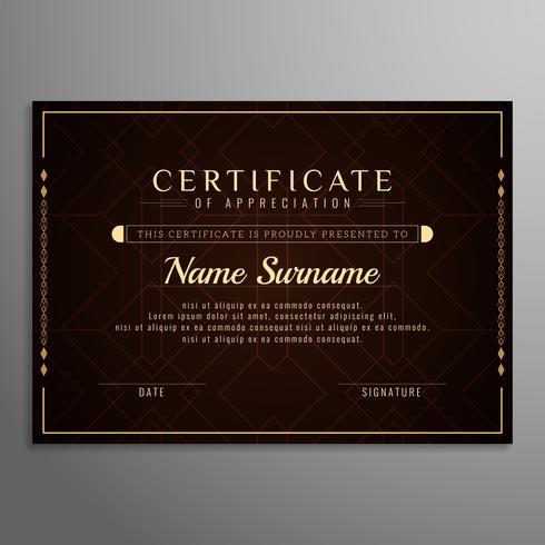 Modèle de certificat élégant abstrait