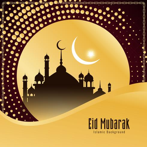 Eid Mubarak religioso abstracto diseño de fondo con estilo