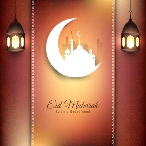 Diseño de fondo Eid Mubarak con estilo abstracto