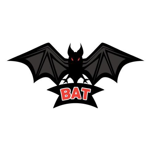 Fledermaus-Logo isoliert auf weißem Hintergrund