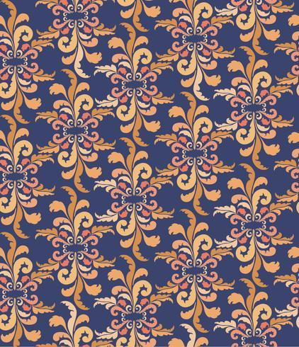 Resumen patrón étnico floral. Ornamento floral geométrico. vector