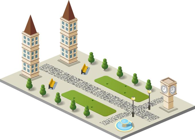 Oude stad vector