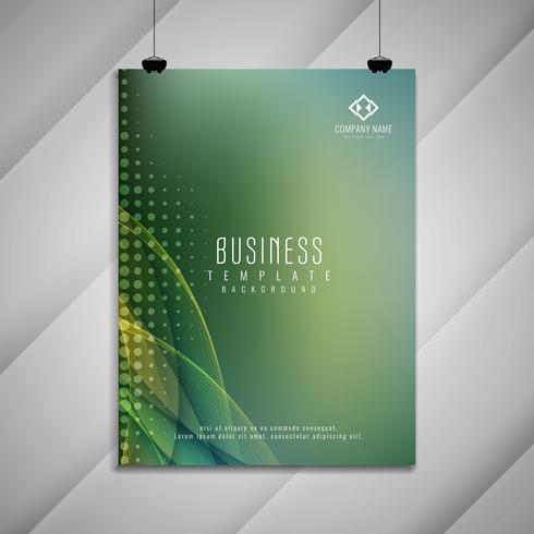 Resumen de negocio ondulado diseño elegante folleto