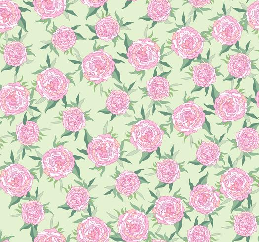 Floral seamless pattern. Flower background. Bloom garden texture vector