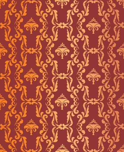 Floral geometric pattern. retro oriental flourish ornament. vector