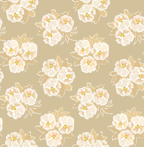 Abstract floral seamless pattern. Flower ornamental background.