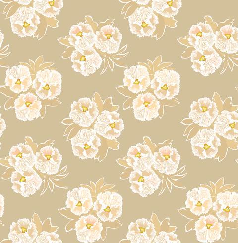 Abstract bloemen naadloos patroon. Bloem decoratieve achtergrond.