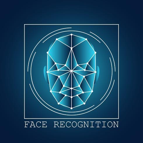 système de balayage de reconnaissance de visage humain