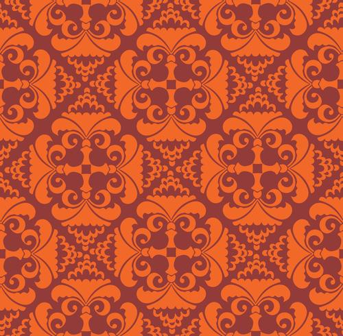 Blommigt geometriskt mönster. retro orientalisk blomning prydnad. vektor