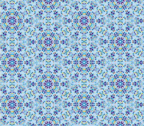 Modelo inconsútil floral oriental abstracto. Adorno de mosaico de flores vector