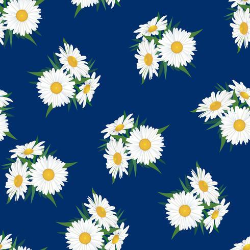 Abstract bloemen naadloos patroon. Zomer bloem achtergrond.