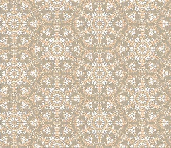 Modèle sans couture floral oriental abstrait. Ornement en mosaïque de fleurs