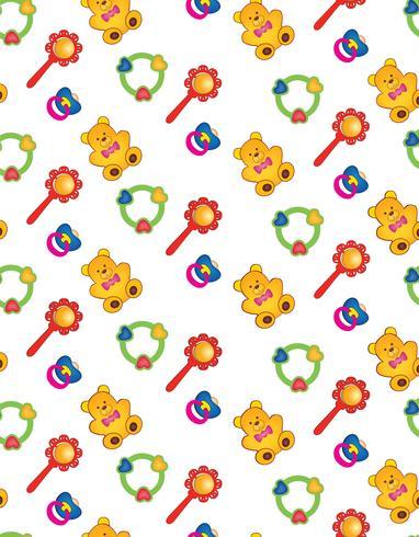 juguete de patrones sin fisuras. patrón de bebé. telón de fondo abstracto del juguete del bebé.