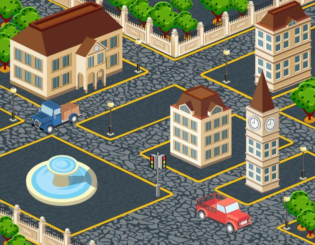 Vieille ville vecteur