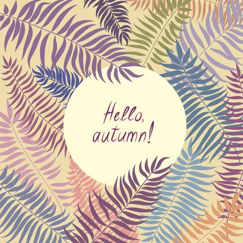 Patrón floral con hojas. Fondo de marco de la naturaleza. Decoración de tarjetas de otoño