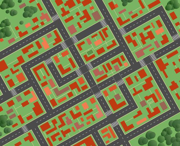 Plan der Stadt