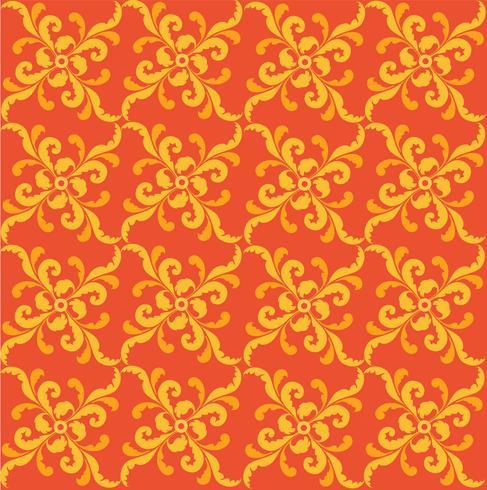 Patrón geométrico floral. Adorno retro oriental oriental.