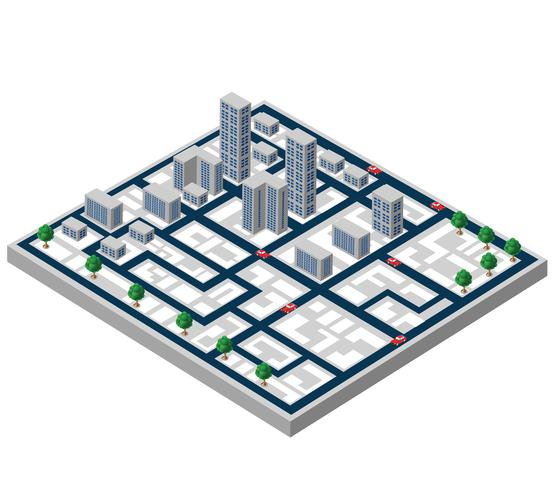 Edificios isometricos