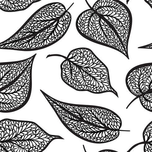 Teste padrão floral com folhas Fundo sem emenda da natureza. Decoração de outono