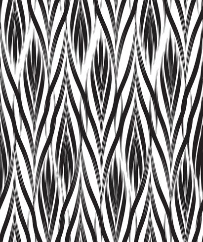 Abstract seamless pattern Ornamento de linha geométrica oriental floral