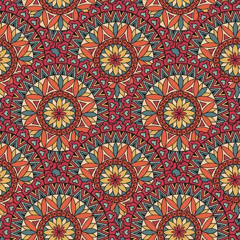 Modello astratto delle mattonelle di mosaico. Ornamento circolare geometrico orientale vettore