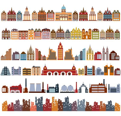 Variants of houses vector