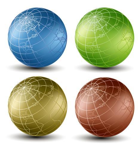 Tierra isometrica vector
