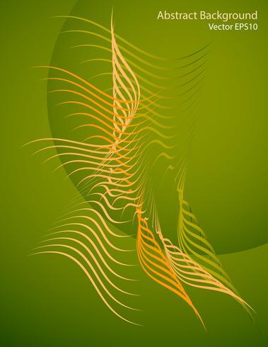 Formas abstratas sobre um fundo verde