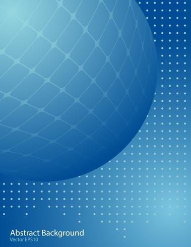 Fundo de vector de esfera gradiente azul
