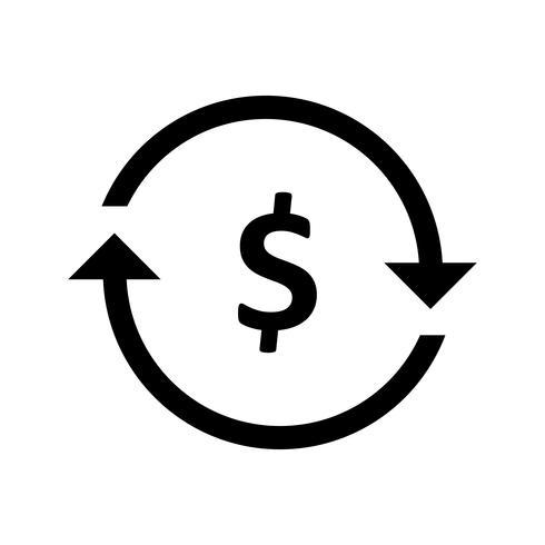Geldwechsel Glyphe Schwarze Ikone