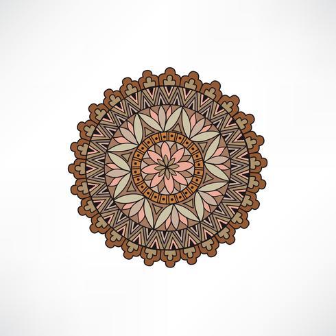 Oriental floral decorative element. Geometric ornament.