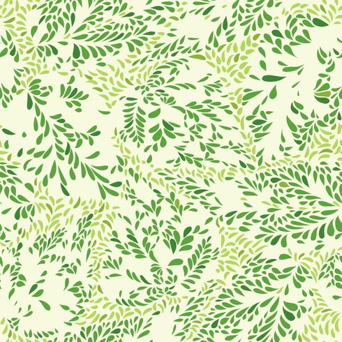 Abstract floral pattern Leaves seamless texture. Plant background vector