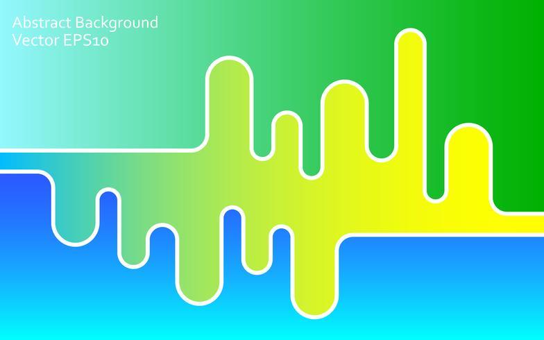 Fundo verde e azul vetor abstrato