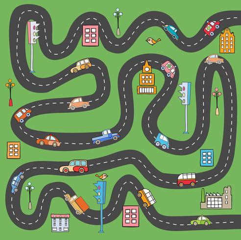 estrada da cidade