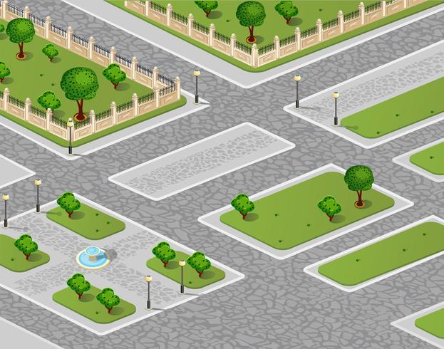 Vetorial, de, urbano, jardim