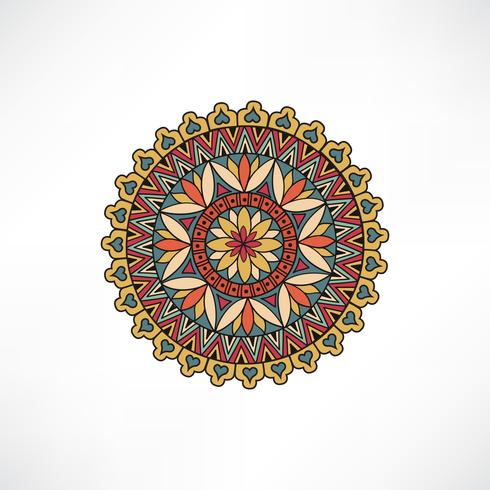 Oriental floral decorative element. Geometric ornament.