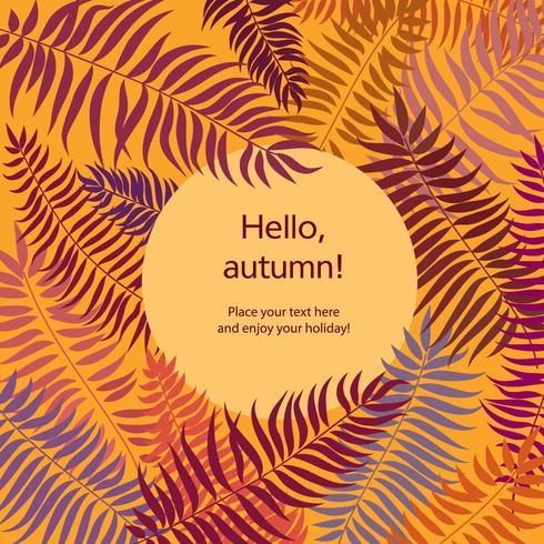 Blumenmuster mit Blättern. Natur-Rahmenhintergrund. Herbst-Kartendekor