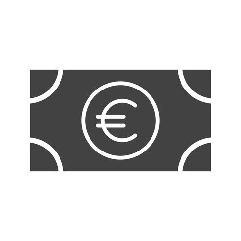 Euro Glyph Black ícone