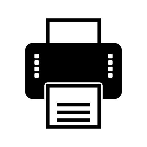 Impressora Glifo Preto Ícone