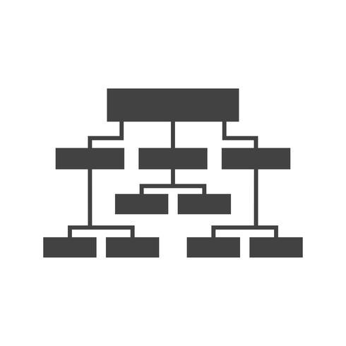 Estrutura de negócios Glyph Black Icon