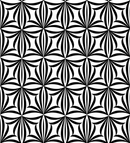 Modello senza cuciture astratto Ornamento floreale geometrico orientale linea