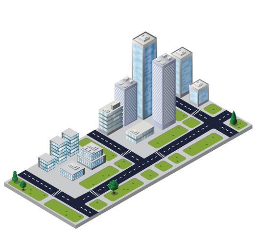 Bloque de la ciudad del vector