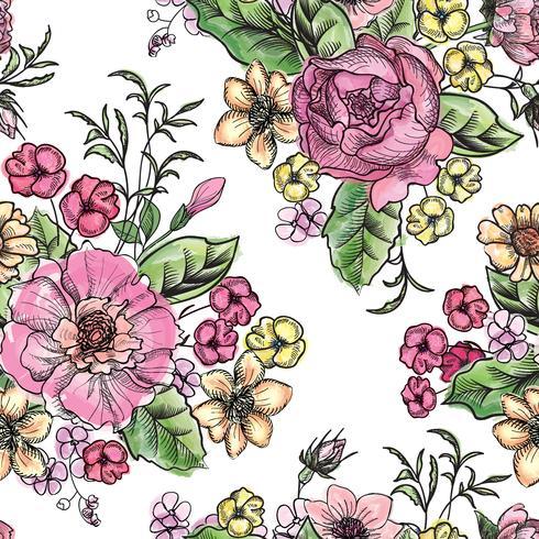 Floral fond sans couture. Motif de fleurs.