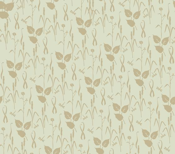 Abstract floral pattern. Leaves swirl seamless backdrop