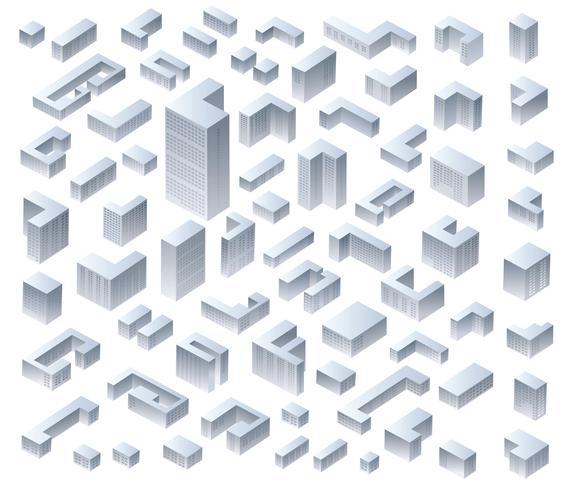 Stel moderne huizen vector