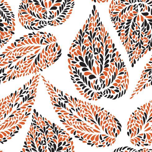 Motif floral Feuille fond carrelé texturé Jardin d'ornement
