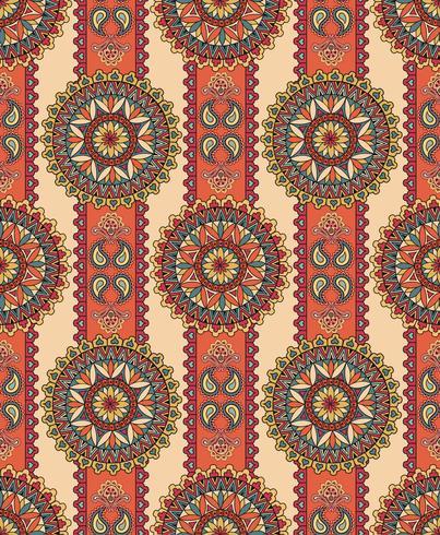 Oriental floral padrão sem emenda. Fundo ornamental geométrico.