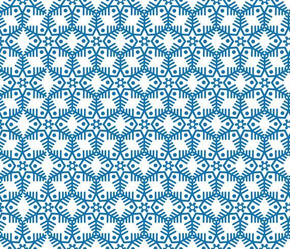 Modèle de tuile de flocon de neige ornement de vacances d'hiver texture géométrique