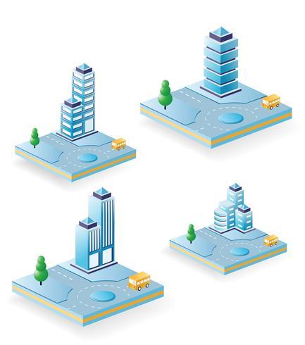 Vector gebouwen