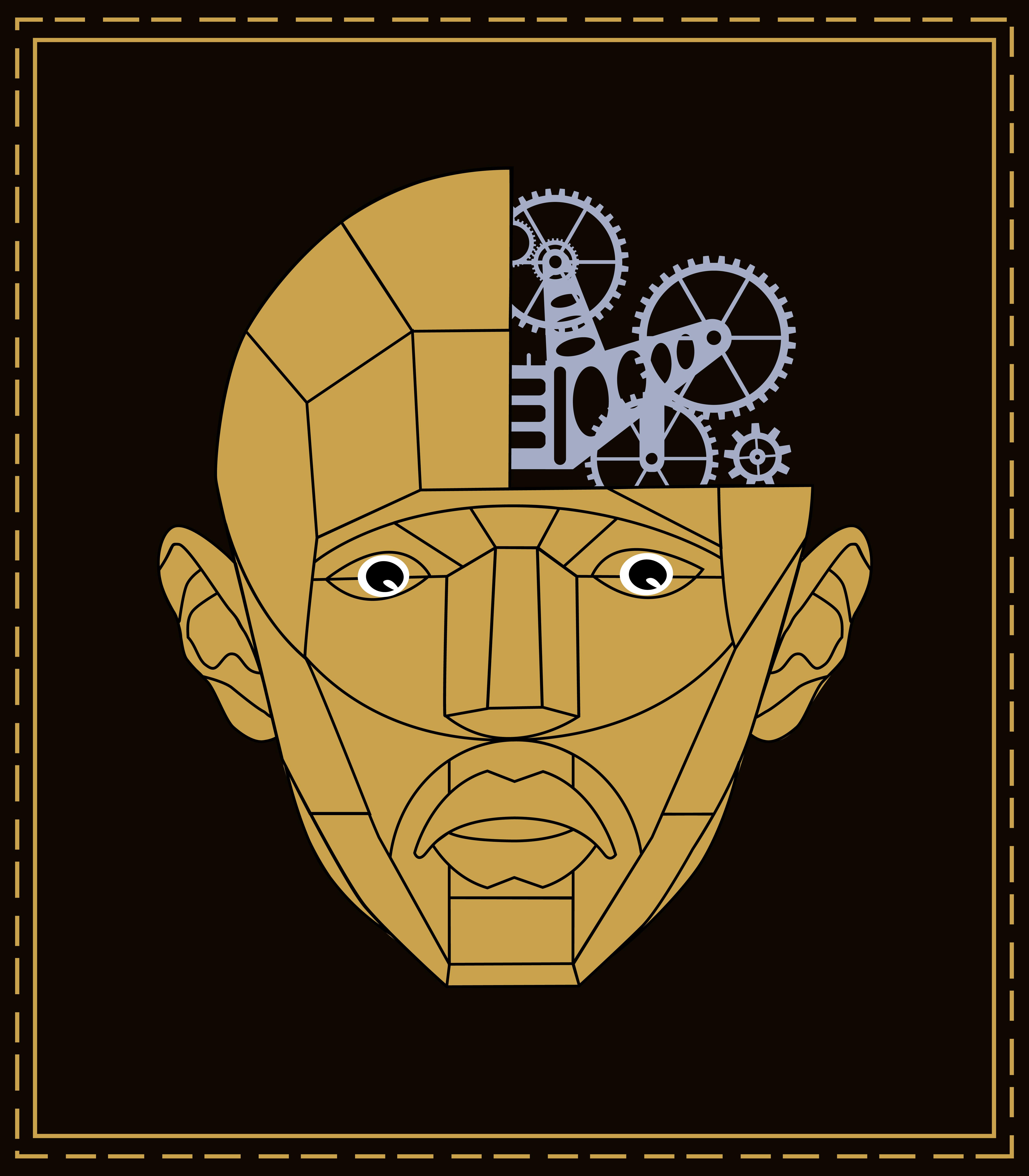 стилизация головы человека картинки